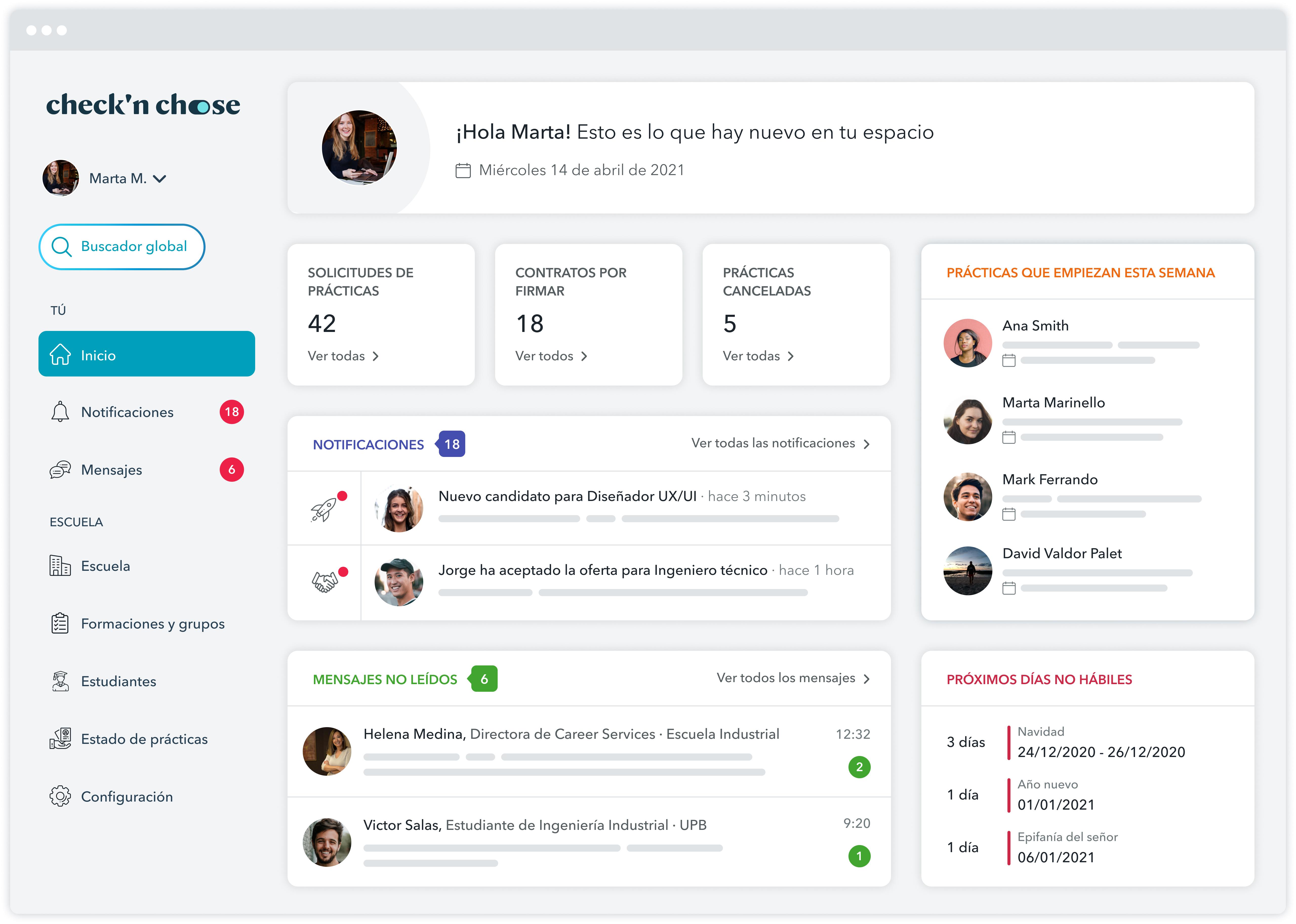 La plataforma que necesitas para la gestión de prácticas profesionales